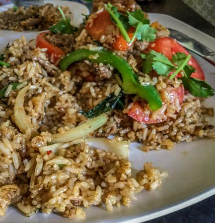 Spicy Thai Fried Rice with Beef - Picture of Diho Siam ...