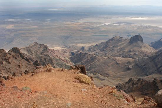 Frenchglen, OR: Alvord Desert from Steens Mountain Rim