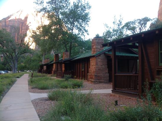 Walkway to the main lodge in front of cabin 522 for Cabin zion national park
