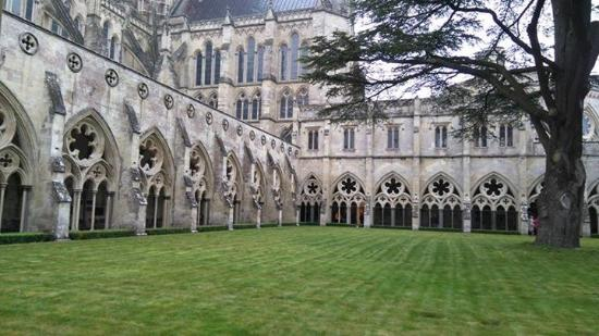 Salisbury Cathedral: View from the cloisters