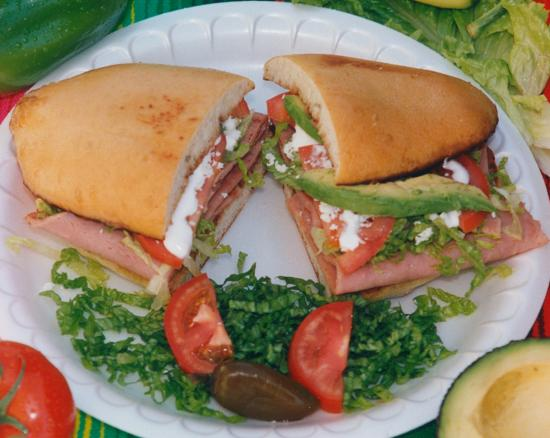 Torta - Mexican Sandwich - Picture of Tortillas Restaurant, Cathedral ...