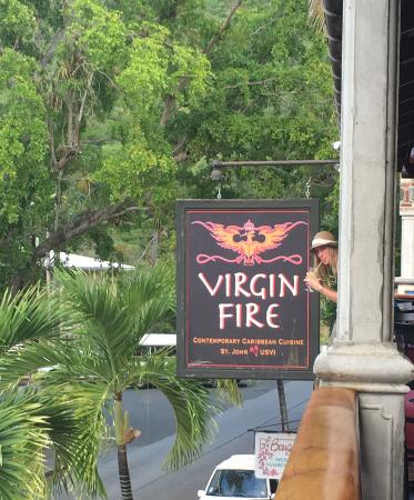 Virgin Fire Bar & Grill: Virgin Fire Sign