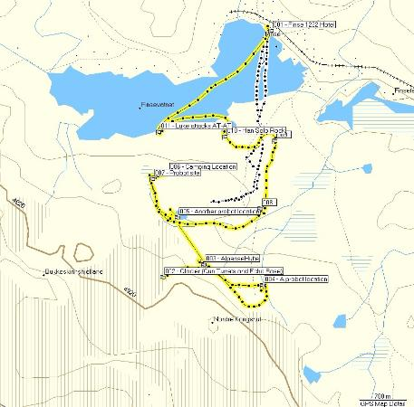 Ulvik Municipality, Norway: A map of where the filming took place