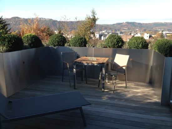 Hotel Villa Hügel: room with a terrace and a view
