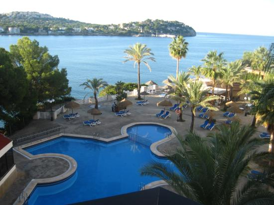 Outdoor pool from apartmnent 414 for Aparthotel jardin del mar mallorca
