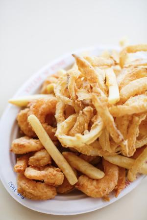 West Dennis, MA: Fried Shrimp and Fries