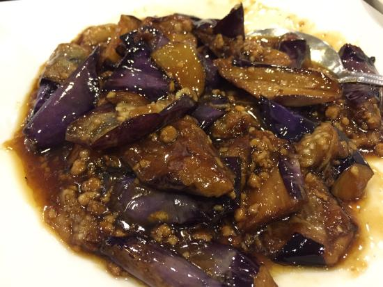 Sichuan Chili Chinese Restaurant: Eggplant with minced pork- not spicy ...