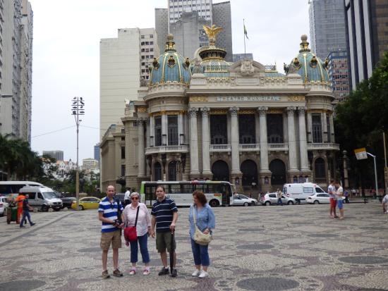 In Front Of Municipal Theater In Rio De Janeiro  Picture
