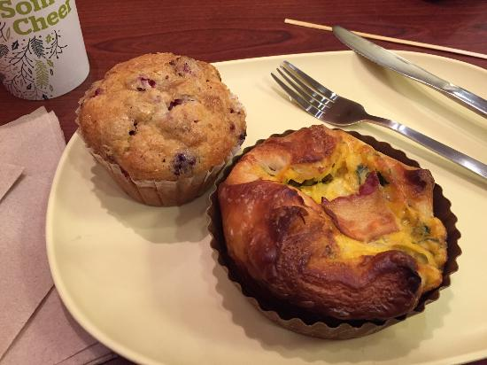 Spinach And Bacon Souffle With Cranberry Muffin Picture Of Panera Bread Knoxville Tripadvisor