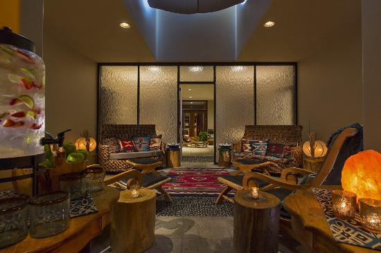 Spa sage combines charming adobe style architecture rich for Sage salon