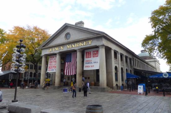 Faneuil Hall Marketplace - The Quincy Market colonnade ...