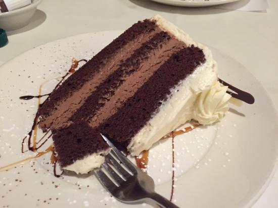 German chocolate cake YUM! - Picture of Maxime's Restaurant & Lounge ...