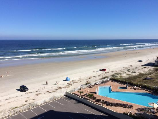 view of the beach from room picture of hyatt place. Black Bedroom Furniture Sets. Home Design Ideas