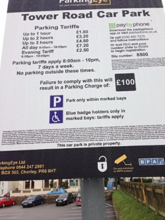 Parking Charges Fistral Beach