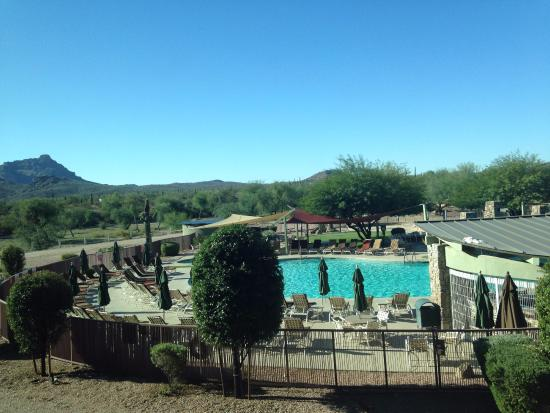 We-Ko-Pa Resort & Conference Center : View of pool and surrounding desert from my second floor room