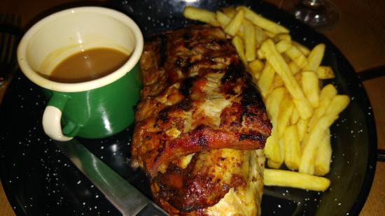 Barnet, UK: chicken & ribs combo (didn't like the new flavour ribs)