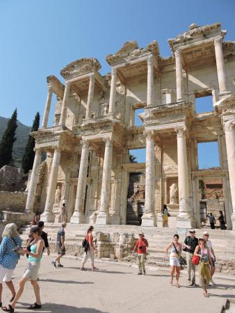 the library - Picture of Ephesus Shuttle Day Tours ...