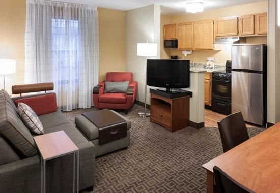 Two Bedroom Suite Kitchen Area Picture Of TownePlace Suites Dallas Las Co