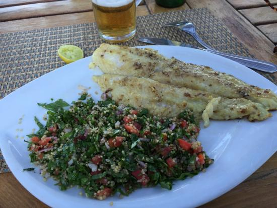 Dahab Paradise: Grilled fish with the best taboule ever!