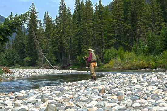Hawley Mountain Guest Ranch: Boulder River fishing hole