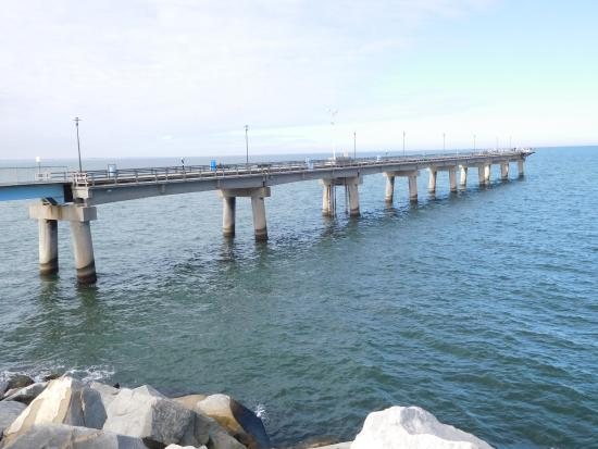 View of chesapeake bay bridge tunnel after fisherman 39 s for Chesapeake bay bridge fishing report