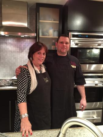 chef martelle and me picture of 700 kitchen cooking