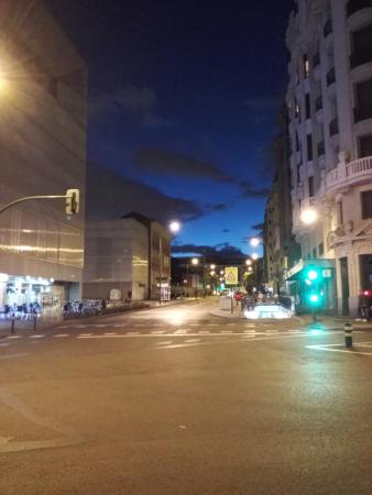 Street opposite hotel picture of exe central madrid - Exe central madrid ...