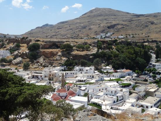 Вид на город - Picture of Village of Lindos, Lindos ...
