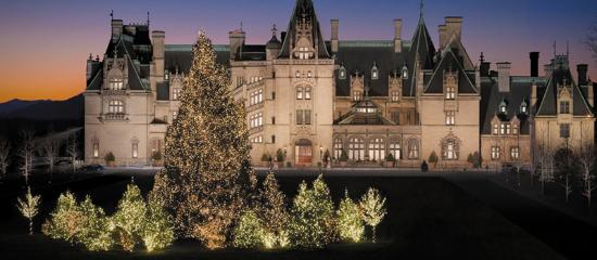 North Carolina: Create a larger than life tradition strolling the decorated halls of the Biltmore at Christmas.