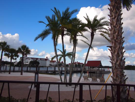 Disney's Polynesian Village Resort: View from Pool - Overlooking Beach