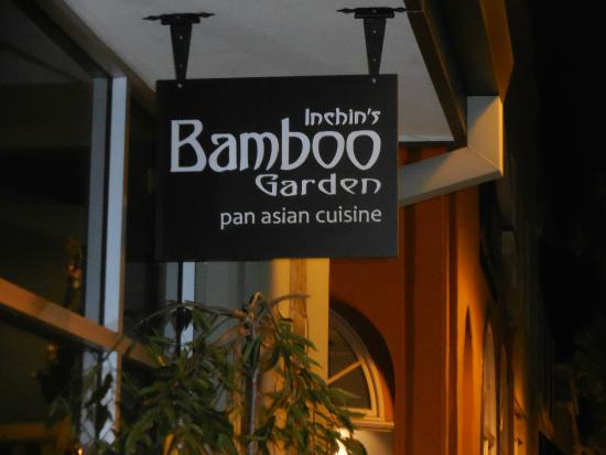 Entry sign picture of inchins bamboo garden sunnyvale tripadvisor for Inchin s bamboo garden sunnyvale