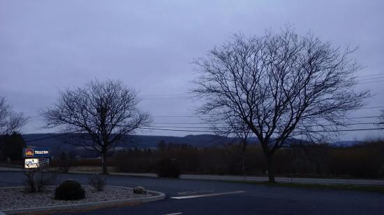 Tully, NY: a shot of the morning sunrise view