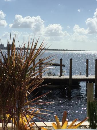 The view of the Caloosahatchee river from the patio, THree Fishermen Seafood, North Fort Myers,