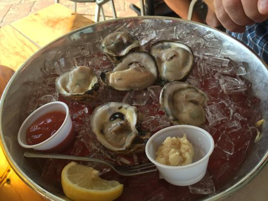 Oysters on the half shell, THree Fishermen Seafood, North Fort Myers, Florida