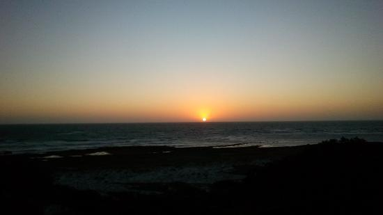 Dongara, Australia: See the sun drop into the horizon.