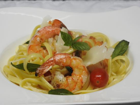 Garlic Herb Grilled Shrimp Fettuccini Pasta - Picture of Aioli, Port ...