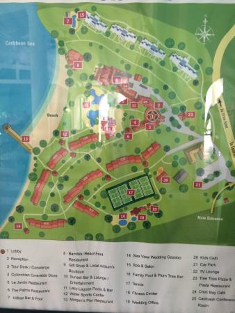 Resort Map Picture Of St James S Club Morgan Bay Gros Islet Tripadvisor