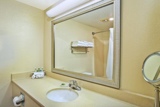 standard guest bathroom vanity picture of holiday inn. Black Bedroom Furniture Sets. Home Design Ideas