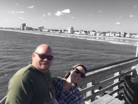 The double decker background picture of cherry grove for Cherry grove pier fishing report