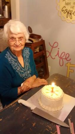 West Columbia, TX: We celebrated Mom's 92nd there and it was a sweet time!