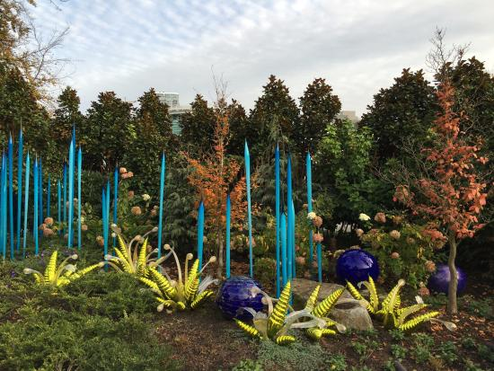 Outdoor Display Picture Of Chihuly Garden And Glass Seattle Tripadvisor