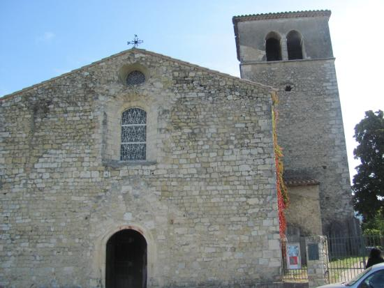 Mirmande, France: the church at the top