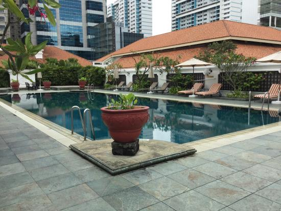Outside Pool Area Picture Of Raffles Hotel Singapore Singapore Tripadvisor