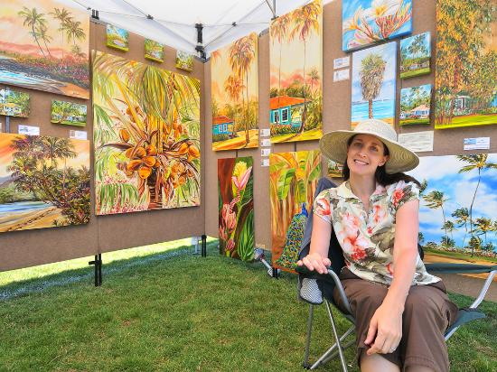 Local art at the Scotts Valley Art & Wine Festival - Photo courtesy of Paul Schraub