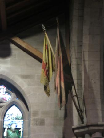 Brechin, UK: Very old flags.