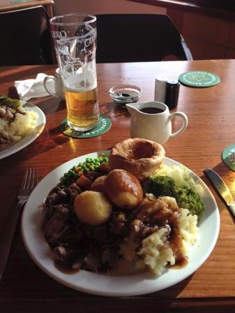 ... Bar & Grill: Lamb Sunday Roast with jug of gravy and mint sauce