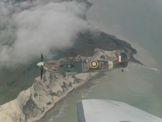 New Romney, UK: Fly with a Spitfire with Action Stations, Lydd, Kent. Paul Davies