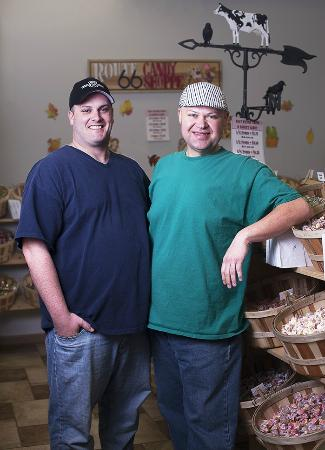 Waynesville, MO: Big Danny & Charley Joe from the Route 66 Candy Shoppe