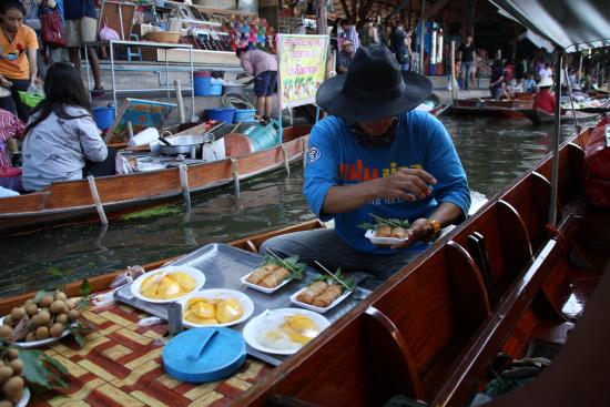 The floating market being served food picture of nok for Ayuttaya thai cuisine