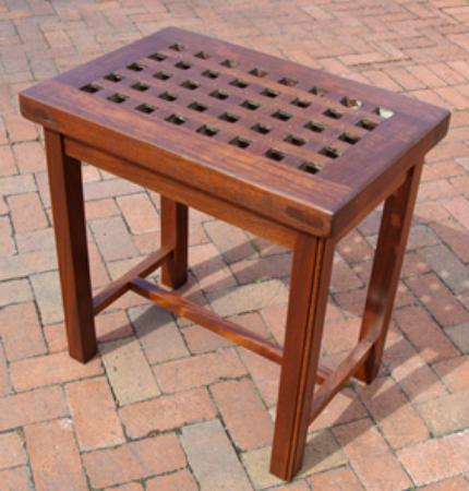 Teak Ship 39 S Grate Occasional Coffee Side Table Nautical